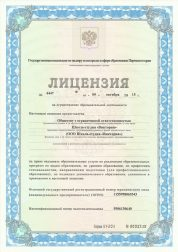 Лицензия на осуществление образовательной деятельности школы-студия «Виктория»